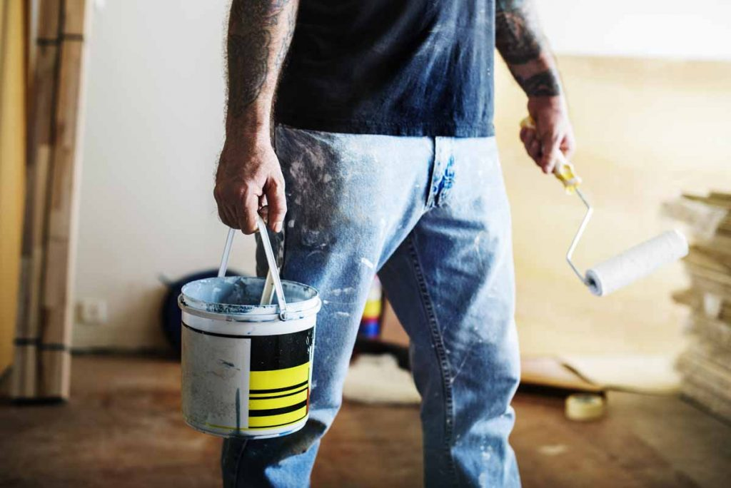 Room interior renovation indoor paint