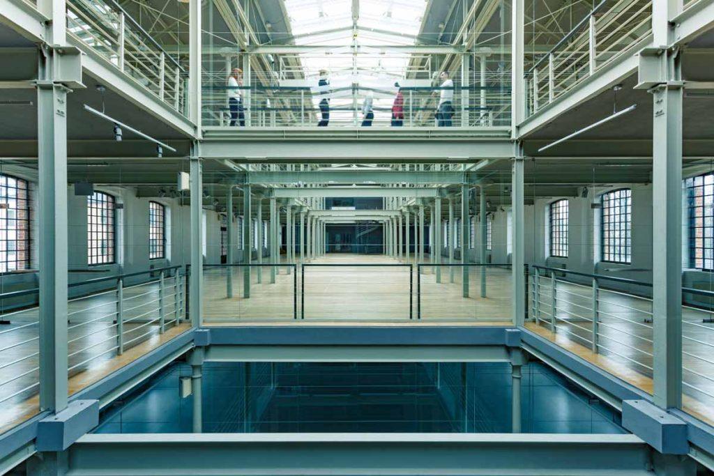 Modern multi storey industrial building